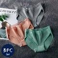 Taille Hohl Briefs Baumwolle frauen Höschen Gestreiften Mode Dessous Atmungs Gemütliche Unterwäsche Mid-Rise Panties Für Frauen Komfort