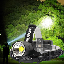 8000 Lumen XHP-70.2 led Koplamp Vissen Camping koplamp High Power lantern Head Lamp Zoomable USB Fakkels Zaklamp 18650(China)