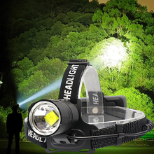8000 lumenów XHP 70.2 lampa czołowa led wędkarstwo reflektor kempingowy High Power latarnia lampa czołowa Zoomable USB latarki latarka 18650