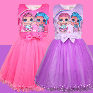 Summer Ball Gown Baby Kids Girl Princess Dress for Christmas Cute Lovely Mesh Cartoon Fashion Dresses Girls Party Clothes