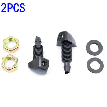 1 Pair Universal Car Window Windshield Front Headlight Washer Jet Nozzle Sprayer image