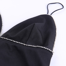 InstaHot Spaghetti Strap V neck Dress Women Sexy Slim Pencil Mini Dress Lady Elegant Party Casual Bodycon Black Summer Dresses