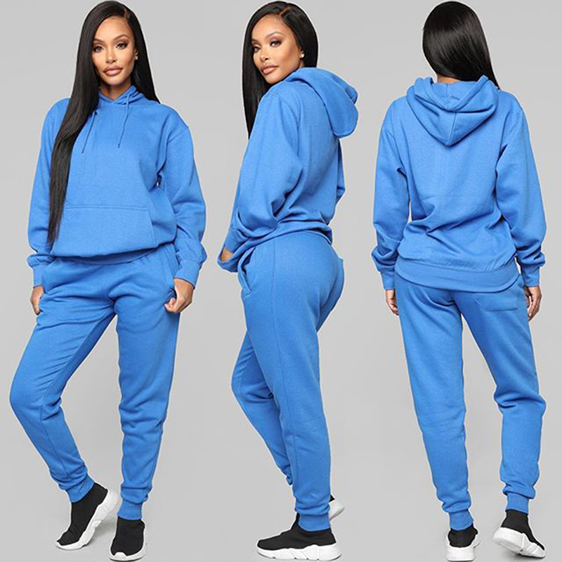 Spring Autumn Tracksuit Women 2 Piece Set 2020 New Hoodies And Sweatpants Sports Fitness Clothes Two Piece Set Women's Set