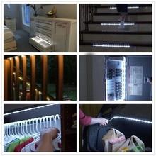 5v Smart Turn ON OFF PIR Motion Sensor & USB Port LED Strip Light Flexiable adhesive lamp tape For Closet Stairs Kitchen Cabinet
