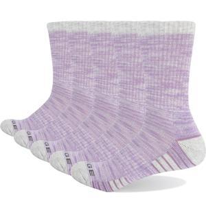 Image 4 - YUEDGE Marke frauen Bunte Baumwolle Kissen Atmungsaktivem Casual Sport Runing Wandern Crew Kleid Socken (5 Paare/paket)