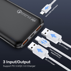 Image 3 - FLOVEME Quick Charger 3.0 Power Bank 10000Mah PD 3.0 Fast 18W Powerbank 10000 Mah External Mobile Battery For iPhone Xiaomi Fast