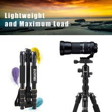 ZOMEI 경량 휴대용 Q666 전문 여행 카메라 삼각대 Monopod 알루미늄 볼 헤드 컴팩트 디지털 SLR DSLR 카메라
