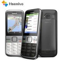 Nokia C5-00 remodelado-original desbloqueado nokia c5 C5-00 telefones celulares gsm 3g 3mp câmera fm gps bluetooth frete grátis