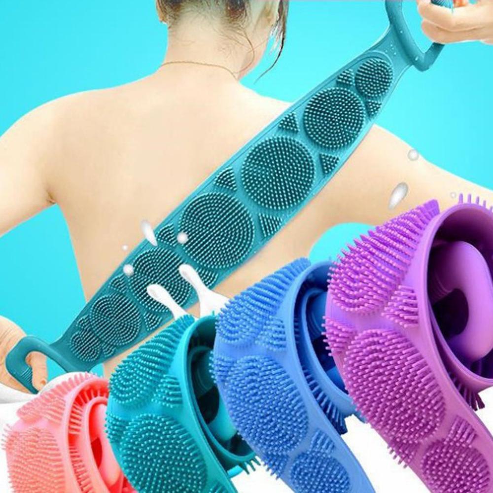 Массаж спина артефакт силикон тянуть спина полоска ванна полотенце мужчины и женщины двусторонний сильный силикон ванна полотенце