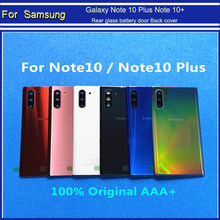 Original quality Rear glass battery door Back cover case housing phone chassis parts For Samsung Galaxy Note 10 Plus Note 10+