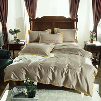Egyptian cotton Bedding Set Luxury Queen King size High grade embroidery Bed set Duvet Cover Bed Sheet spread Fit sheet set