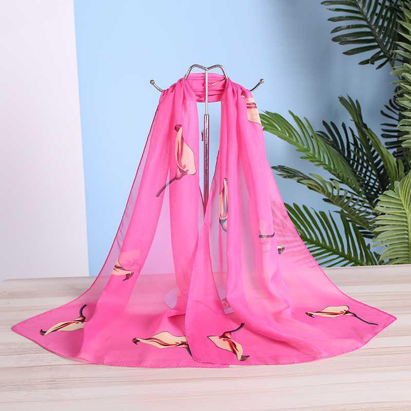 Gloednieuwe Chiffon Sjaal Vrouwen Lente Zomer Zijden Sjaals Dunne Bloem Sjaals En Wraps Foulard Print Hijab Stola Groothandel