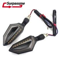 Honda VFR 800 Z50 gölge 600 evrensel motosiklet LED sinyal lambası motosiklet gündüz farları göstergesi flaşör