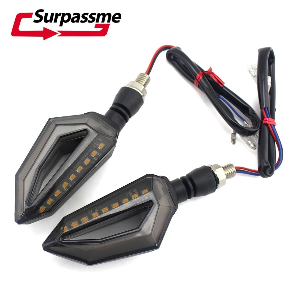 Universal Motorcycle LED Turn Signal Light Red Motorbikes Daytime Running Lights Indicator Blinker Motocross Racing Accessories
