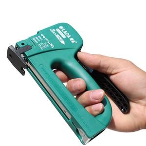 Image 5 - LAOA pistola de clavos multifuncional, Manual, para tapicería, enmarcar, grapa, pistolas, Kit para clavadoras de puerta de madera, herramienta de remache, pistola de clavos para el hogar