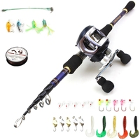 1.8m 2.1m 2.4m 2.7m Carbon Fiber Casting Rod and Casting Reels set  fishing rod hook line Baits Fishing Tackle Trout pole|Fishing Rods|Sports & Entertainment -