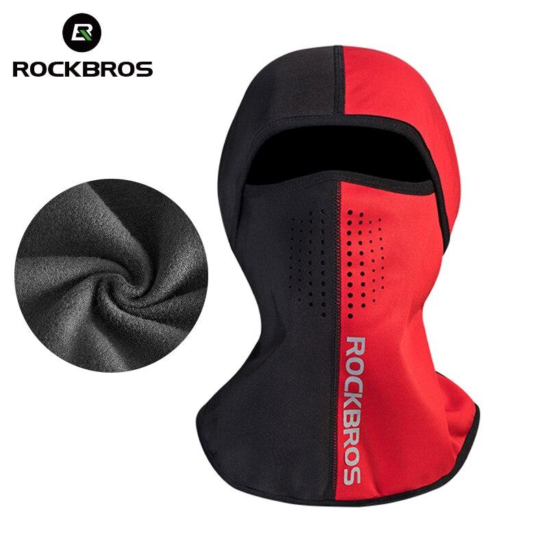 ROCKBROS Winter Gesicht Maske Radfahren Thermal Halbe Gesicht Maske Balaclava Skifahren Lauf Snownboard Sport Hut Maske Hals Wärmer Headwear