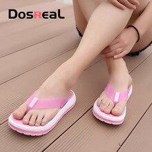 Dosreal Women Flip Flops Slippers Summer Slides Sandals Woman Casual Platform Flip Flops Outdoor Vacation Cheap Beach Shoes Big