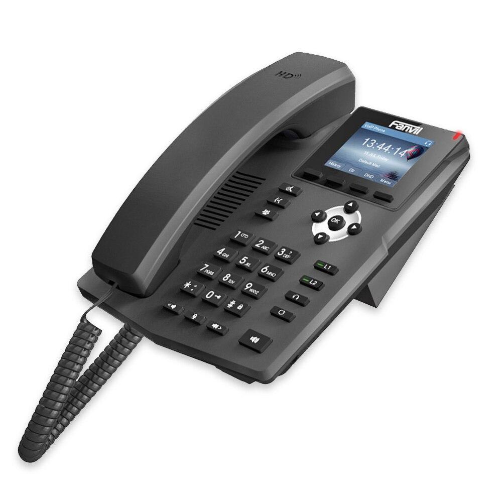 Téléphone IP Fanvil X3S téléphone SOHOIP industrie du téléphone 2 lignes SIP HD voix POE compatible casque de bureau intelligent - 6