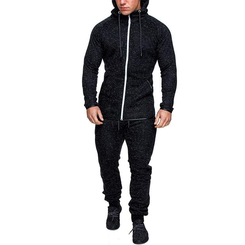 2019 North Winter Jacket Men Jogging Sweatpants Tracksuit Sports Fitness Male Suit Face Hoodies Gym Clothing Plus Size 3XL