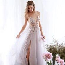 Вечернее платье с v образным вырезом розовое бальное из тюля