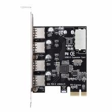 4 Port PCI-E to USB 3.0 HUB PCI Express Expansion Card Adapt