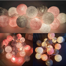 Garland-Lights String Fairy-Lights-Decoration Baby Bed LED Cotton-Ball Xmas Wedding-Party