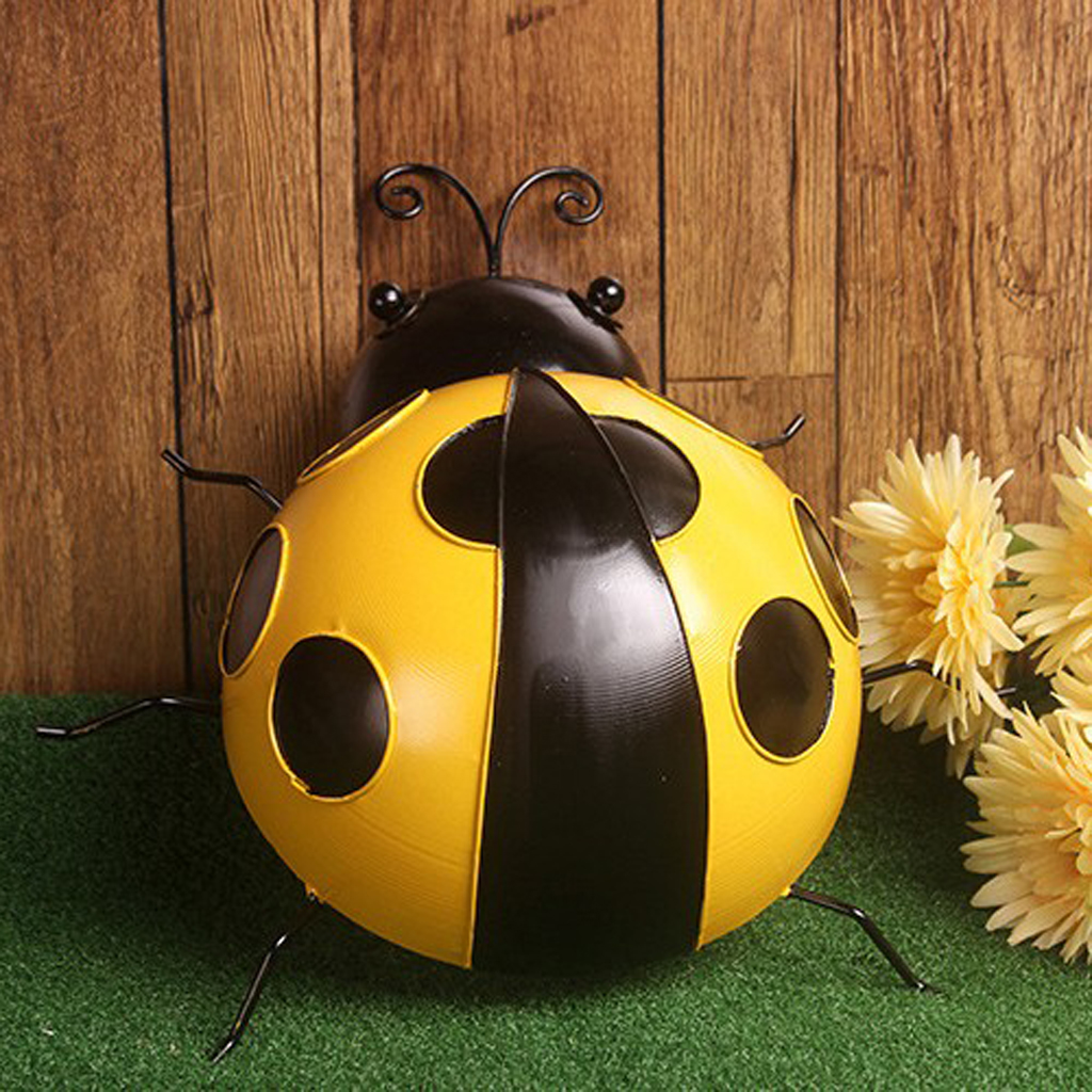 1Pcs Beetle Ladybug Figurine Miniature Dollhouse Decor Garden Lawn Ornament Home Decor
