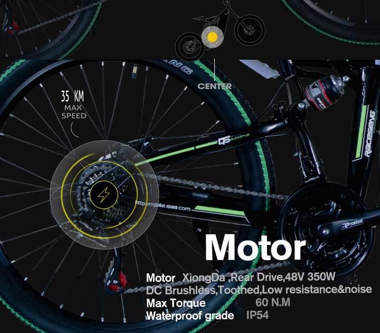 MX300 2019 New Design 350W/500W/750W/1000W 48V 10AH/13AH electric bicycle 26 inch folding electric bike with high quality 6