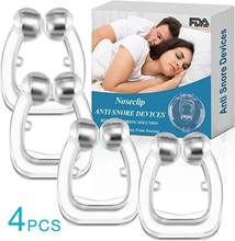 Magnetic Anti Snore Stop Snoring Nose Clip Sleep Tray Sleeping Aid Apnea Guard Night Device with Case Anti Snoring Device