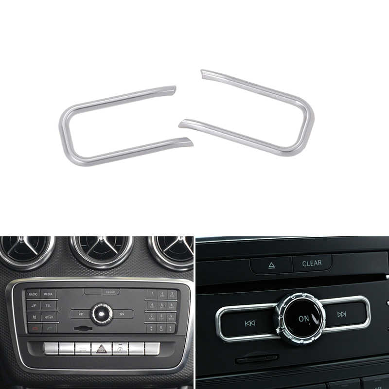Cubierta de Panel de CD de Control central de diseño de coche de 2 piezas para Mercedes Benz A B CLA clase W176 A180 c117 X156
