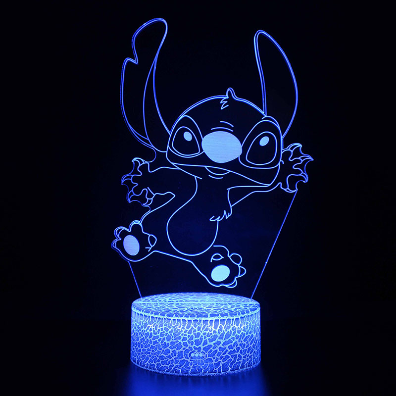Stitch-Lights Decoration Action-Figure Bedroom Kids Cartoon Model with Remote-Control