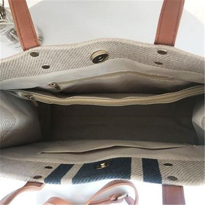 Image 5 - حقيبة نسائية جديدة حقيبة يد نسائية من القش حقائب كبيرة للنساء 2019 جديدة اللون مطابقة النسيج BigHandbag موضة مثير غير رسمي