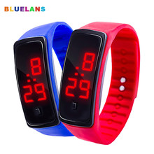 Children's Watches Kids LED Digital Sport Watch for Boys Girls Men Women Electronic Silicone Bracelet Wrist Watch детские часы(China)