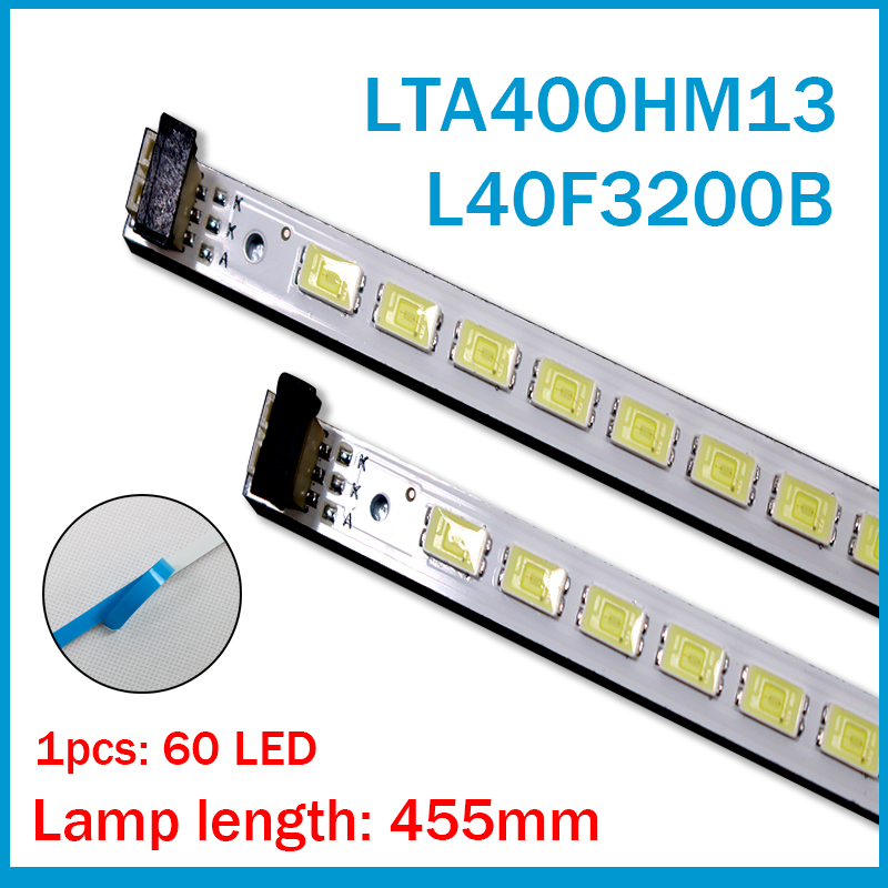 2pcs X 40 Inch LED Backlight Strip For 40'' TV L40F3200B LJ64-03029A LTA400HM13 40INCH-L1S-60 G1GE-400SM0-R6 60-LEDs 455mm