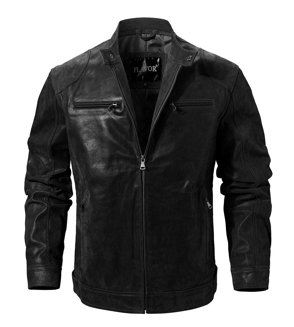 H69ea774ceb6e479aa4ec826a75f411619 Men's Pigskin Real Leather Jacket Motorcycle Jacket Coat Men