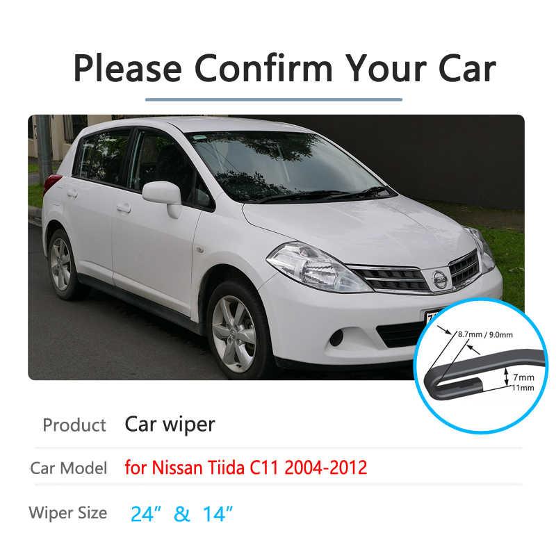 """Fits Nissan Tiida 2007-on standard windscreen wiper blades 24/""""14/"""" alca SPECIAL"""