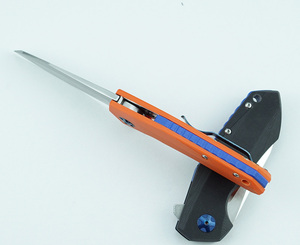 Image 4 - LEMIFSHE ZT 0456 전술 폴딩 나이프 G10 핸들 D2 블레이드 베어링 플리퍼 사냥 칼 포켓 캠핑 생존 EDC 도구
