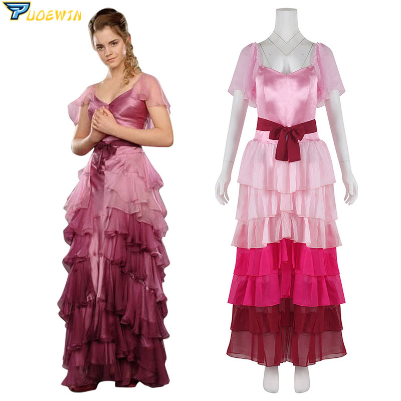 Hermione Granger Pink Ball Gown Dress Cosplay Costume For Adult Women Girls Custom Made