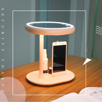 Makeup mirror with led light led makeup mirror makeup vanity Desk lamp fill light mirror 180 rotating mirror with Phone holder фото