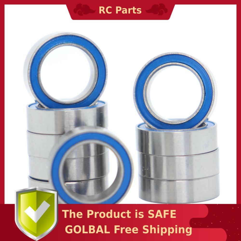 8x12x3.5 mm 10 PCS MR128-2RS Rubber Sealed Ball Bearing BLUE MR128RS 8*12*3.5