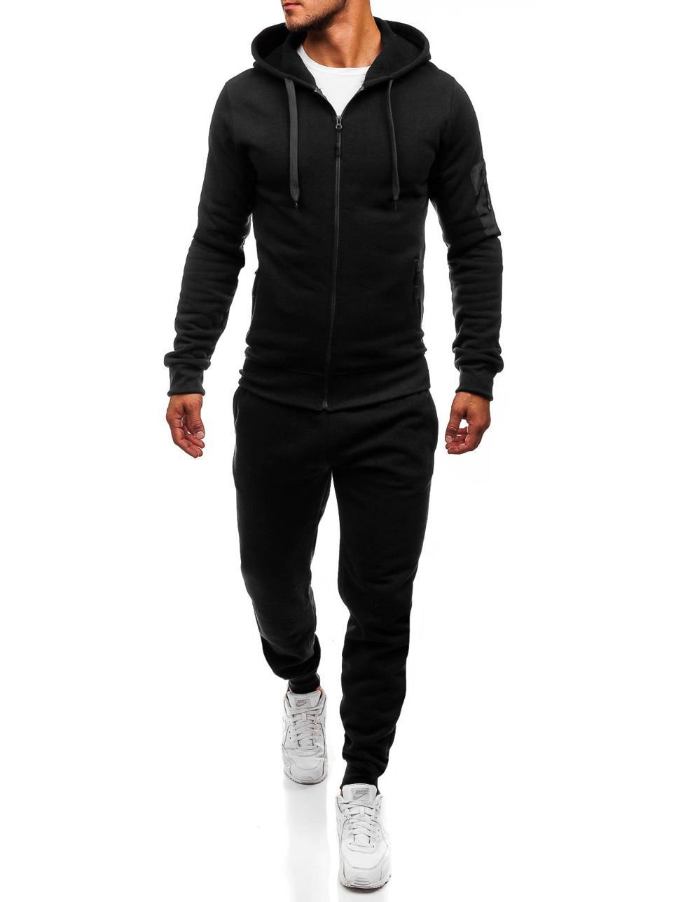 New Style 2018 Autumn And Winter New Style Fashion Men Leisure Set Sports Cardigan Suit Hoodie