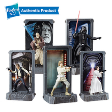 Hasbro Star Wars 40th Anniversary Black Series Titanium Series figure Darth Vader Leia Organa Solo Collection Toy Model Gift недорого