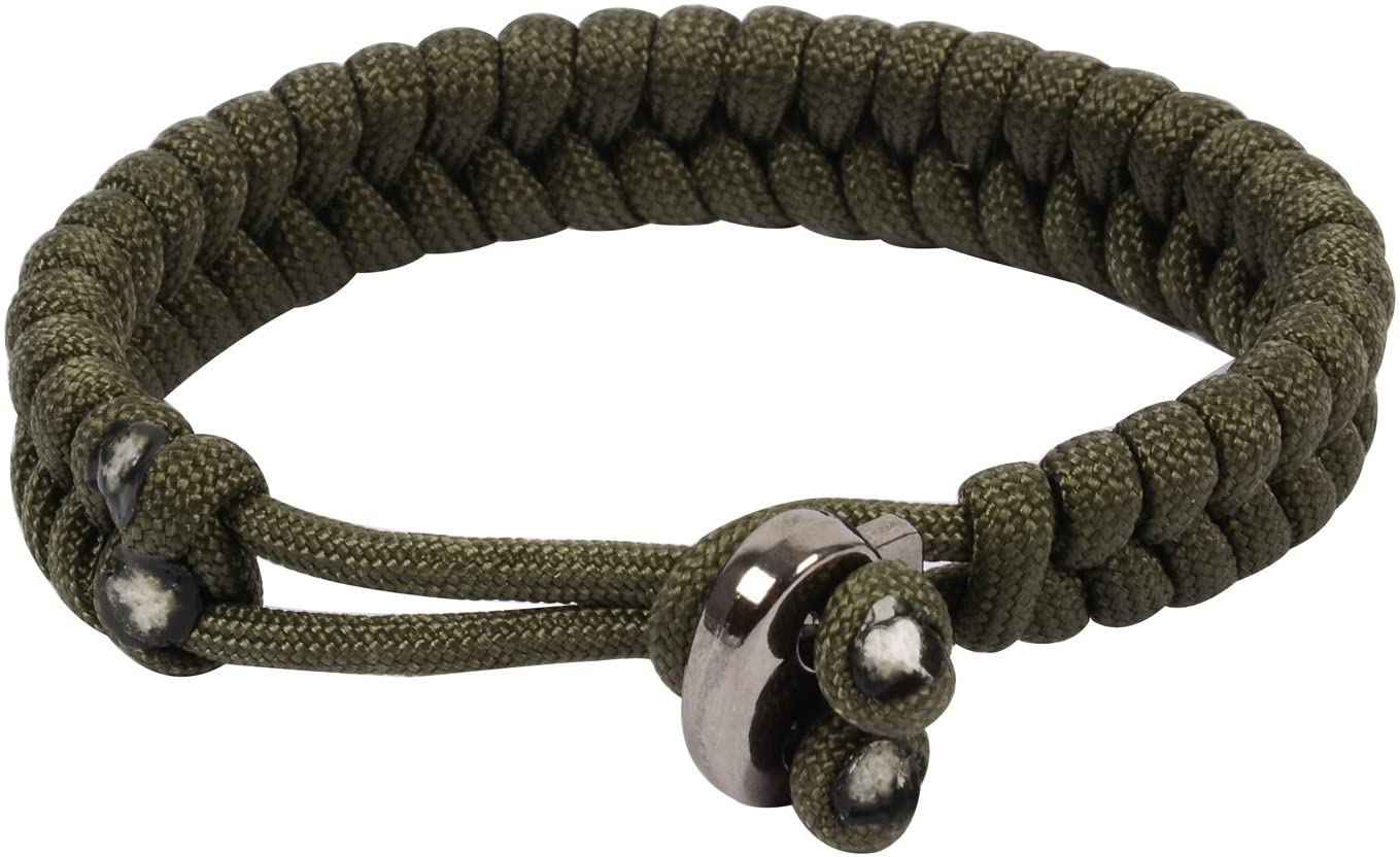 Outdoor Camping Survival Bracelet Men Sports Parachute Cord Adjustable Size Bracelet Bracelet Men