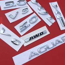 Letters Numbers V6 V8 AWD 3.0 5.0 XF XJL Emblem for Jaguar Badge XJ XE F TYPE F PACE Fender Middle Trunk Car Styling Sticker