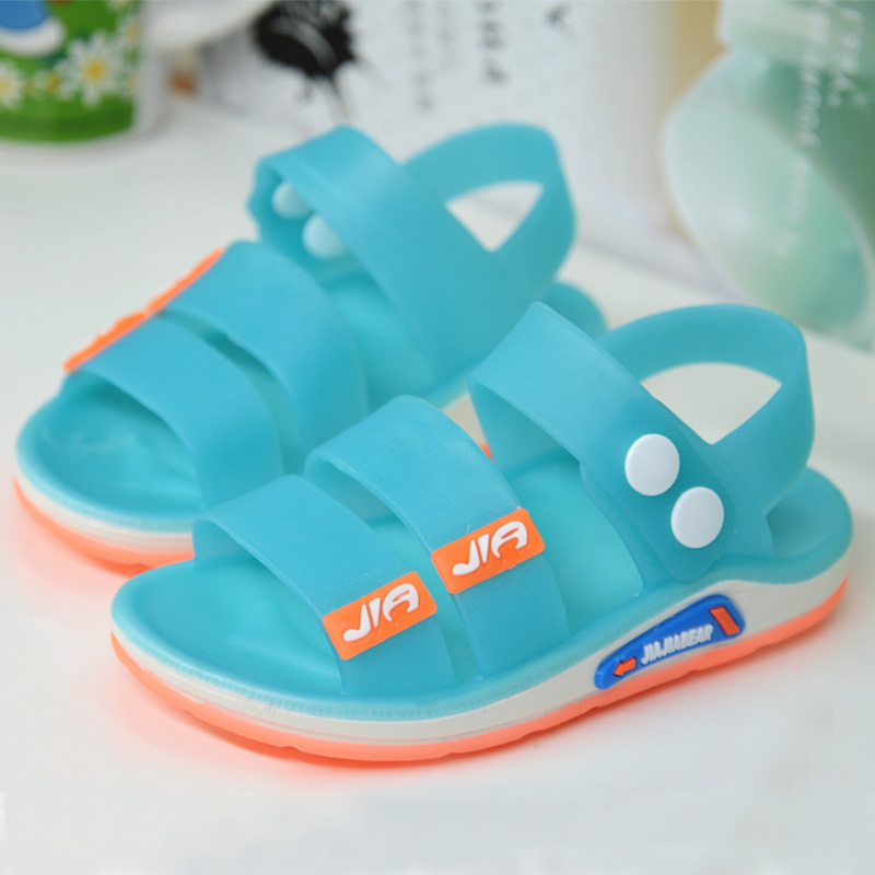 2020 New Summer Jelly Children Sandals Baby Girls Sandals Flat Boys Beach Shoes Soft PVC Casual Kids Shoes Breathable Non-slip