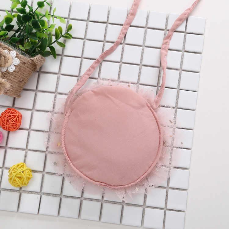 2019 mode Nettes Kind Baby Mädchen Kinder Taschen Krone Spitze Baumwolle Kausalen Schulter Taschen 2 Farben