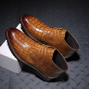 Image 2 - Homens botas de couro grande Size38 48 laço acima botas de cowboy homem sapatos masculinos à prova de água botas novas sapatos de plataforma botines hombre