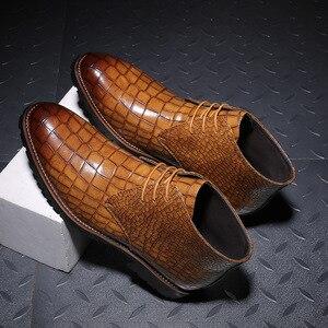 Image 2 - Mens Boots Leather Men Big Size38 48 Lace Up Cowboy Boots Man Shoes Male Water Proof Boots New Platform Shoes Botines Hombre