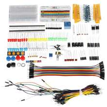 Starters-Kits LED Base with Breadboard-Resistor Capacitor Jumper-Cable for Plastic-Box-Package